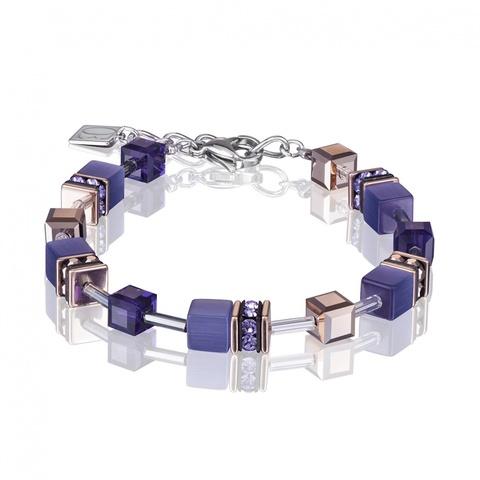 Браслет Coeur de Lion 4016/30-0800 цвет фиолетовый, синий