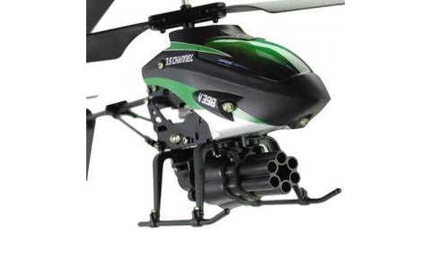 Радиоуправляемый вертолет WL Toys V398 Rocket Gun (стреляет ракетами)