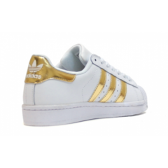 Женские Adidas SuperStar White/Gold