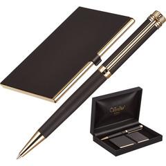 Набор пишущих принадл. VERDIE Ve-6BG ручка+визитница, дерев.футляр Тайвань