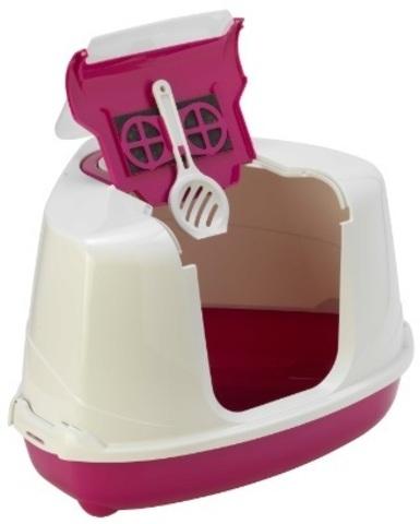 Moderna био-туалет угловой Flip Corner 55x45x38h см с совком, розовый
