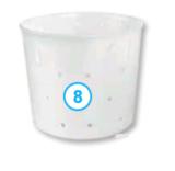 Круглая форма для сыра, стаканчик (250 мл.)