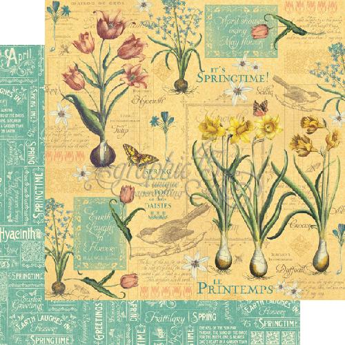 Бумага для скрапбукинга April Flourish Graphic45