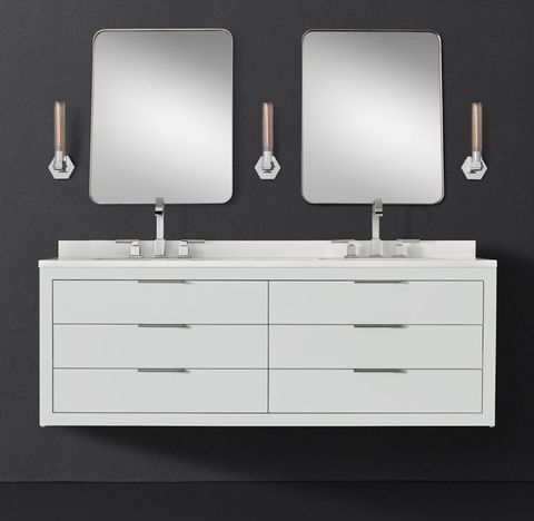 Machinto Double Floating Vanity - White