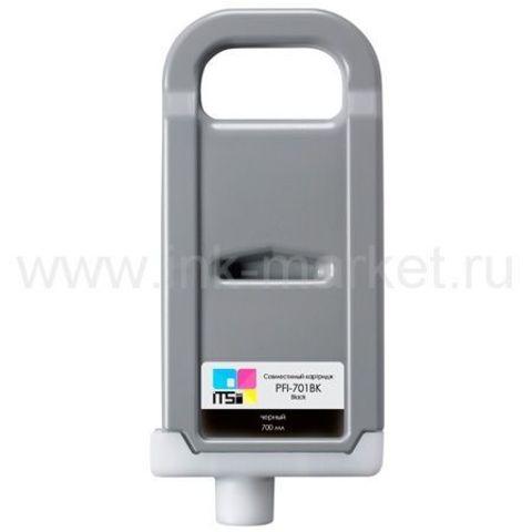 Совместимый картридж PFI-701 Black Pigment 700 мл для Canon imagePROGRAF 8100/9100