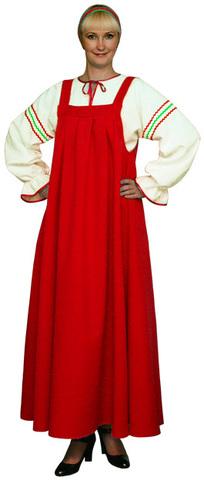 Русский народный костюм красный
