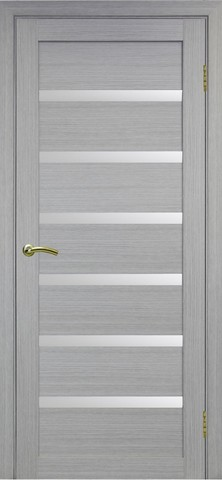 > Экошпон Optima Porte Турин 507.12, стекло матовое, цвет дуб серый, остекленная