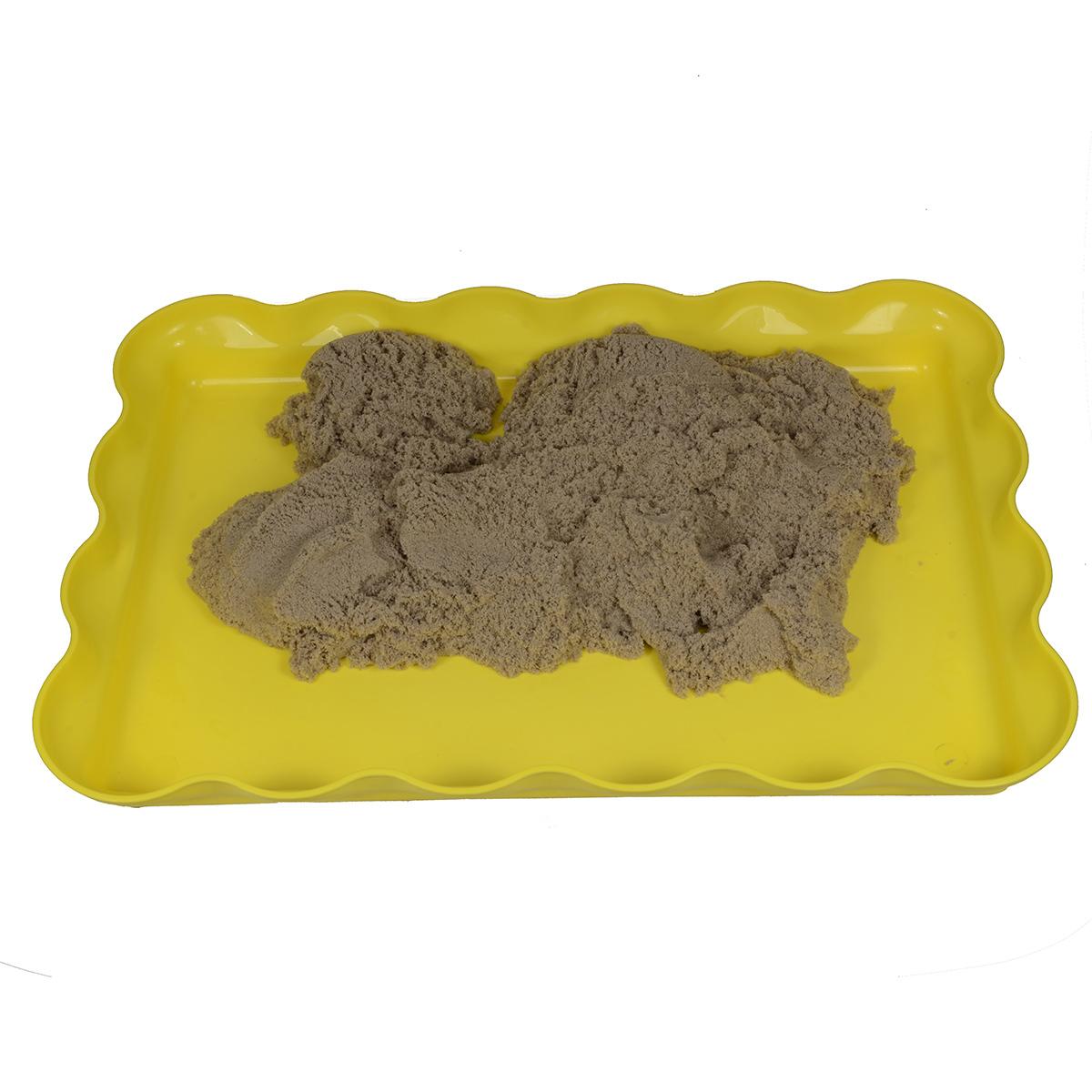 желтая песочница для кинетического песка