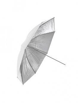 Студия FUJIMI FJU567-33 Зонт студийный белый&серебро однослойный 84 см
