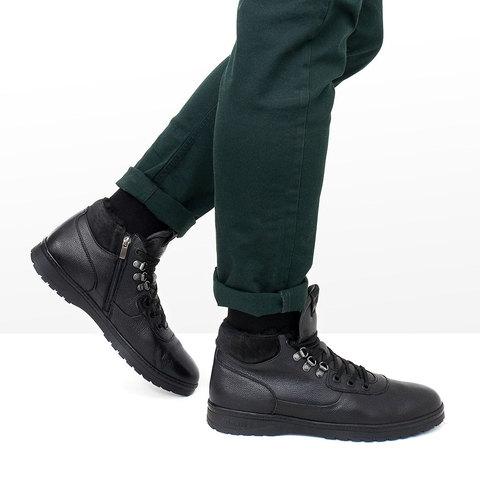 Мужские ботинки для зимы из натуральной кожи