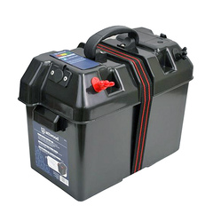 Ящик для для аккумуляторной батареи, с клеммами и прикуривателем