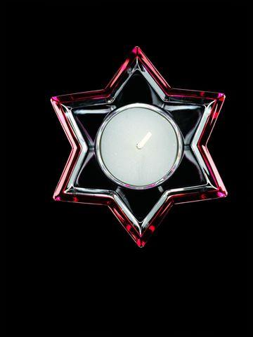 Подсвечник Nachtmann Crystal Christmas Звезда красная