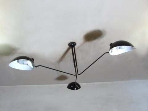 SERGE MOUILLE LIGHTS CEILING 3 ARMS