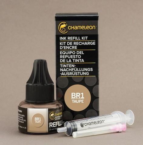Чернила для маркеров Chameleon серо-коричневые BR1, 25 мл