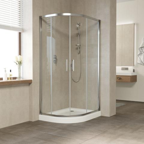 Душевой уголок Vegas Glass ZS-F профиль глянцевый хром, стекло прозрачное