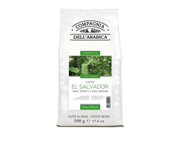 """Кофе в зернах Compagnia Dell`Arabica El Salvador """"SHG"""", 500 г (Компания Дель Арабика)"""