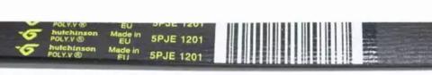 Ремень для стиральной машины Indesit (Индезит) /Ariston (Аристон)/ Stinol (Стинол) 1201 J5 PJE Hutchinson 1128мм, черный, желтая надпись