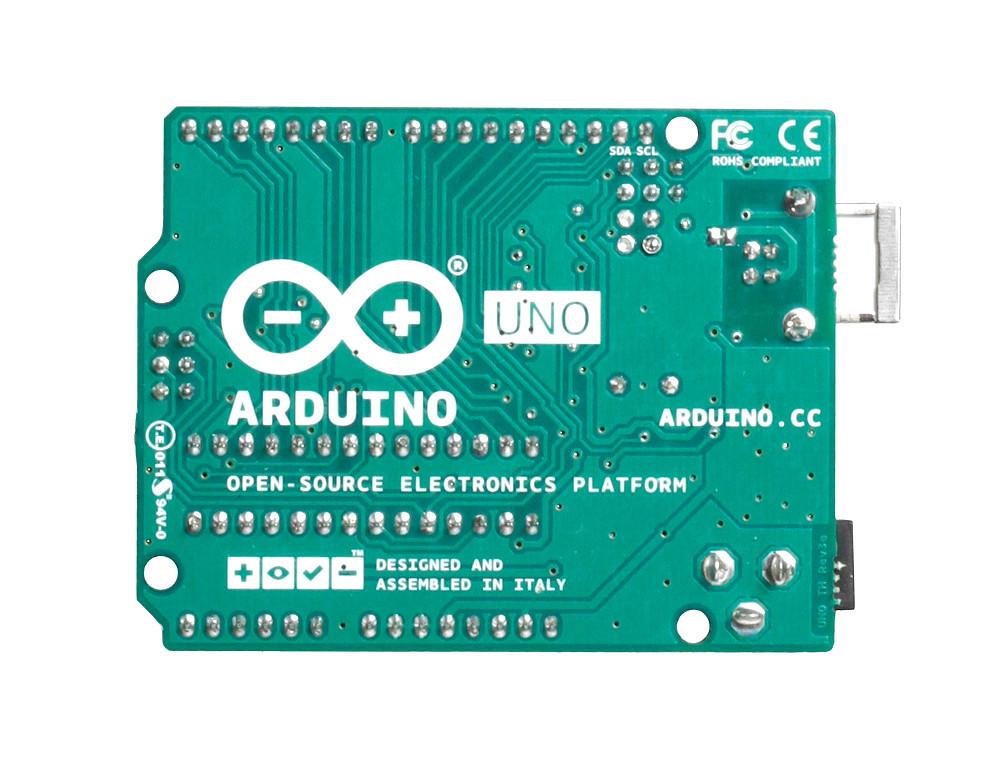Arduino Uno R3 - вид снизу