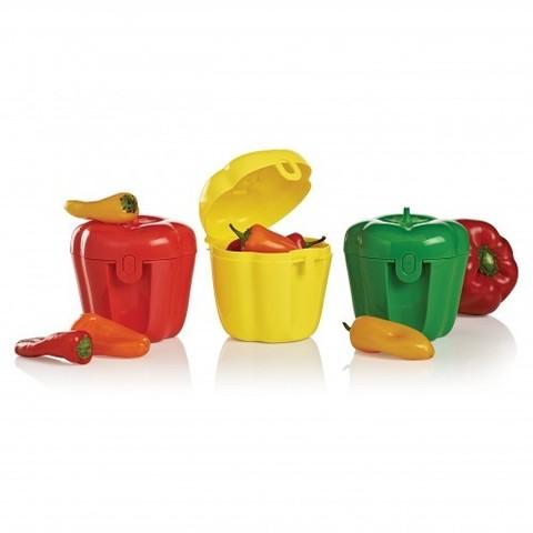 Контейнер перец в красном, желтом, зеленом цвете