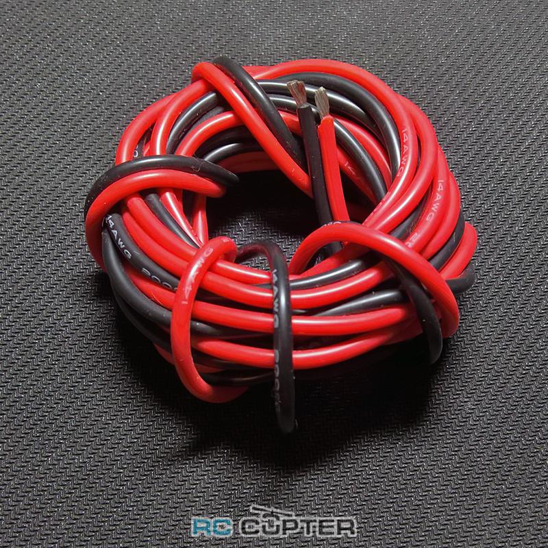 Медный провод 24AWG (3м красного + 3м чёрного) в силиконовой изоляции 6 метров
