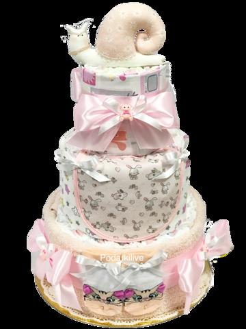 Торт из памперсов для девочки Анжелика