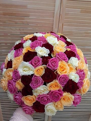 101 роза микс 50 см #1449