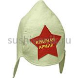 """Будёновка """"Красная Армия"""" (белая)"""