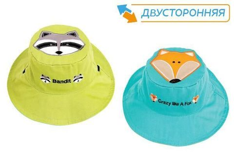 Панама Flapjackkids Енот/Лиса (Raccoon/Fox LUV0129M) M (2-4). Арт. 53000