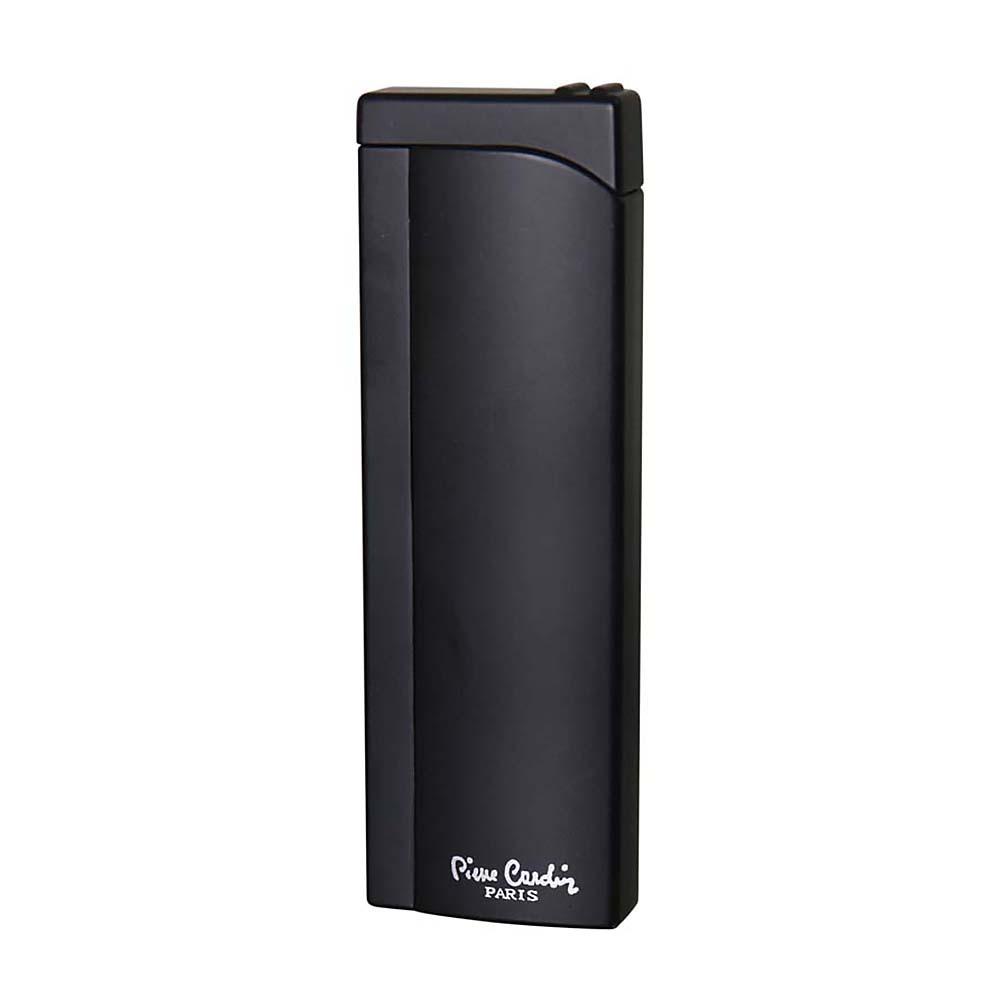 Зажигалка Pierre Cardin кремниевая газовая пьезо, цвет черный, 2,6x1,2x 8см