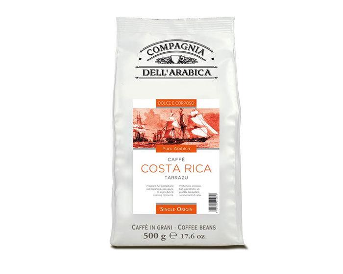 Кофе в зернах Compagnia Dell`Arabica Costa Rica Tarrazu, 500 г (Компания Дель Арабика)