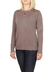 MS1726-5 кофта женская, коричневая