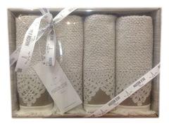 Салфетки махровые  JACQUARD NATURALLE - ЖАККАРД НАТУРЕЛЛЕ  32х50   Maison Dor (Турция)