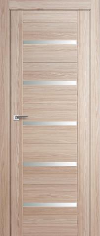 Дверь Profil Doors №7Х, стекло матовое, цвет капучино мелинга, остекленная