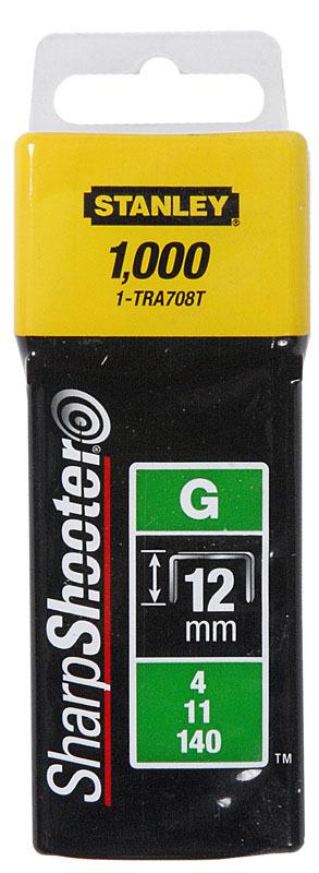 Скоба для степлера 12мм G 140 1000шт Stanley 1-TRA708T