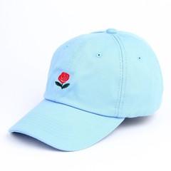 Кепка с логотипом The Hundreds (Роза) ярко-голубая