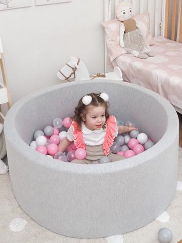 Серый сухой бассейн Anlipool 100/40см комплект №35 Rosy cheeks