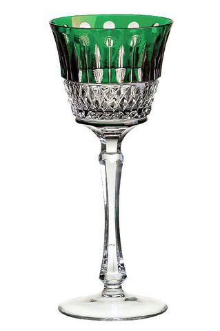 Рюмка для ликера 70мл Ajka Crystal St. Louis зеленая Венгрия