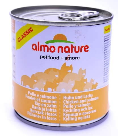 Консервы (банка) Almo Nature Classic Adult Cat Salmon&Chicken