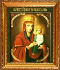 Споручница грешных. Икона Божьей Матери на холсте.