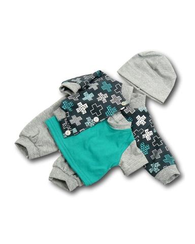 Костюм с курткой бомбером - Бирюзовый. Одежда для кукол, пупсов и мягких игрушек.