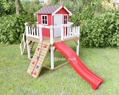 Детский деревянный домик Маргаритка