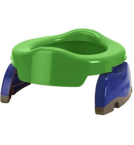 Дорожный горшок Potette Plus с 1 пакетиком зелено-синий