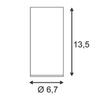 SLV 151811 — Светильник потолочный накладной ENOLA_B, белый
