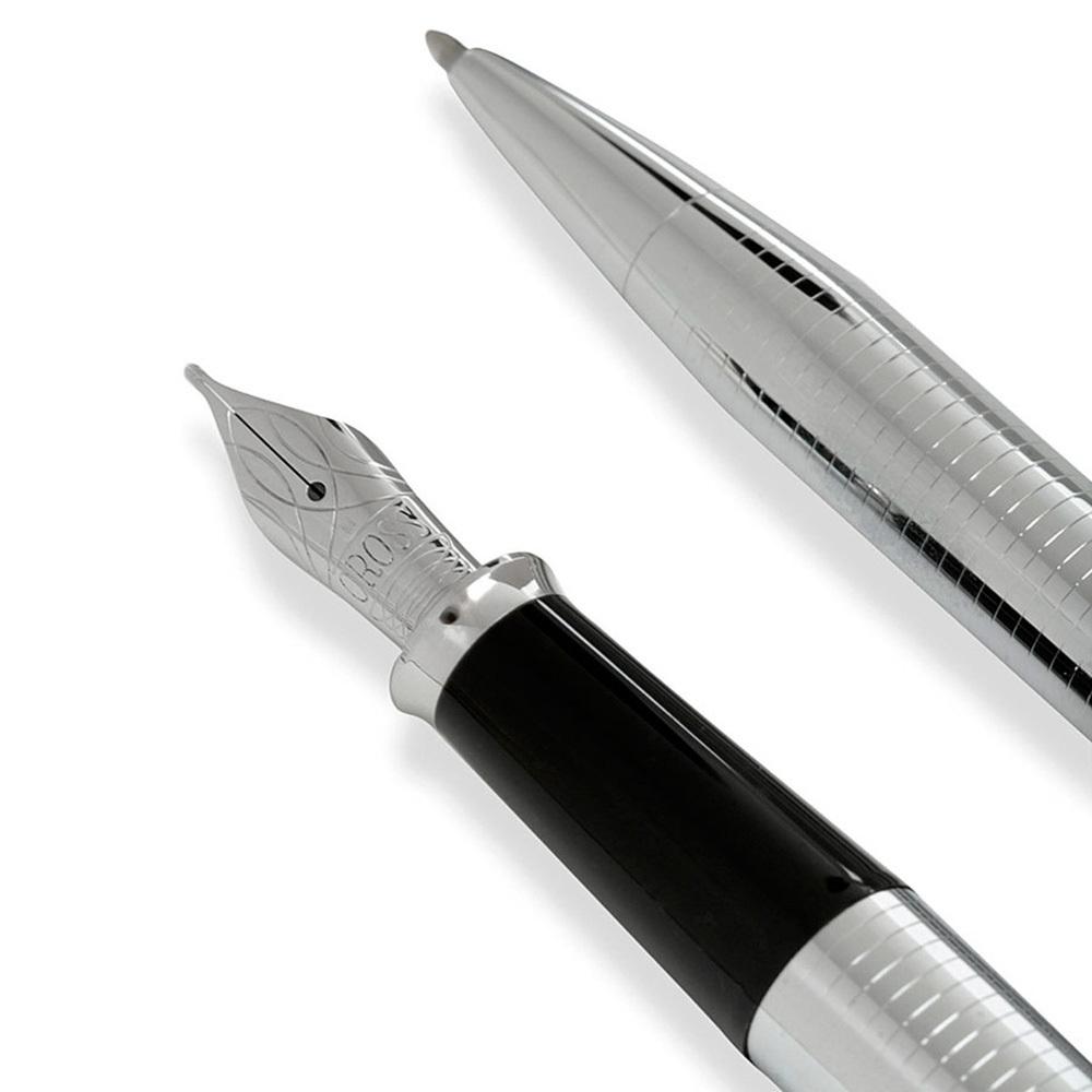Набор подарочный Cross Townsend - Chrome, шариковая ручка + перьевая ручка