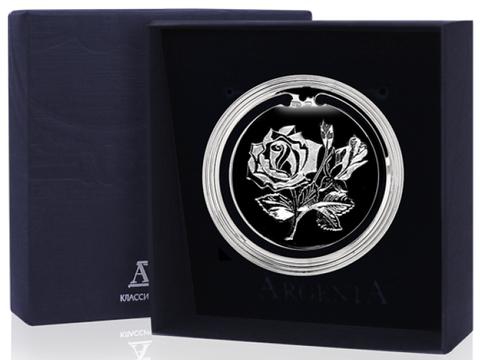 Серебряная закладка для книг «Цветок»