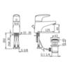 Смеситель для раковины однорычажный с донным клапаном Oras Vega 1800F