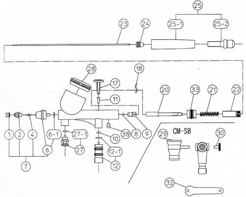 Аэрограф Iwata Мicron CM-SB