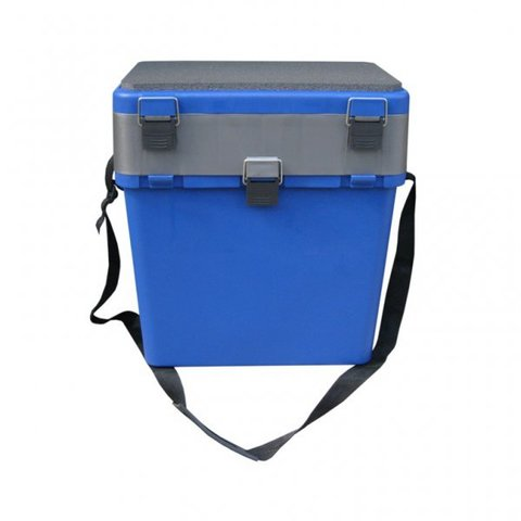 Ящик зимний односекционный 19л (синий)
