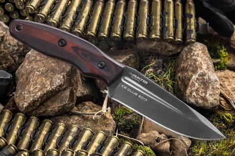 Туристический нож CityHunter K390 Red Micarta