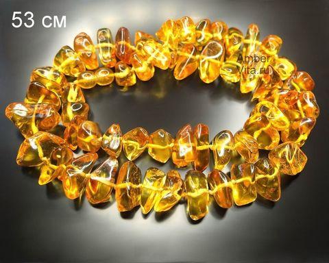 Солнечные бусы из натурального янтаря